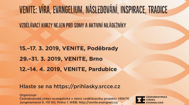 Akce VENITE na jaře 2019